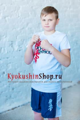 Футболка киокушинкай детская (белая)