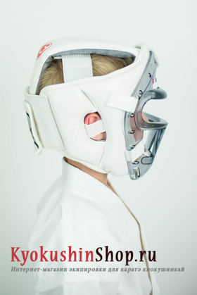 """Комплект боец """"шинкиокушин"""" шлем с маской"""